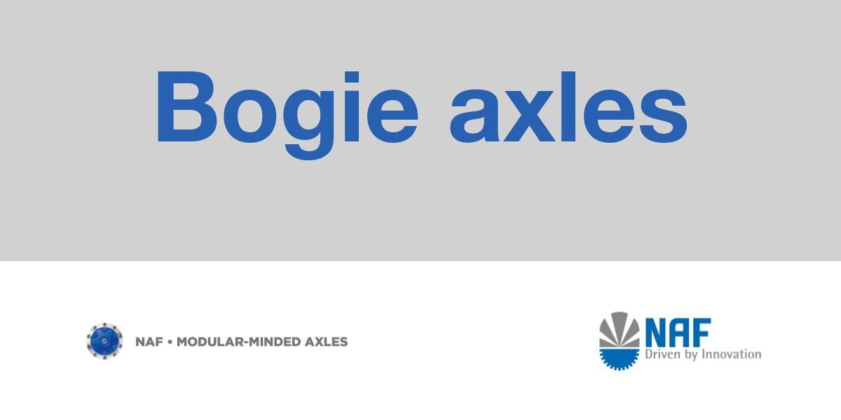 Bogie axles